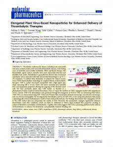 Elongated Plant Virus-Based Nanoparticles for ... - ACS Publications