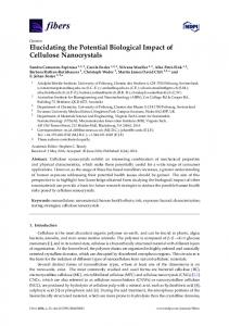 Elucidating the Potential Biological Impact of Cellulose ... - MDPI