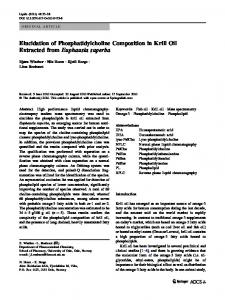 Elucidation of Phosphatidylcholine Composition in ... - BioMedSearch