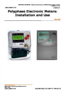 EM5100 Polyphase Electronic Meter