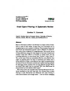 Email Spam Filtering: A Systematic Review