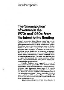 'Emancipation' of women in the 1970s and 1980s - CiteSeerX