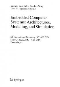 Embedded Computer Systems: Architectures