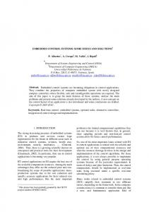 EMBEDDED CONTROL SYSTEMS: SOME ... - Semantic Scholar