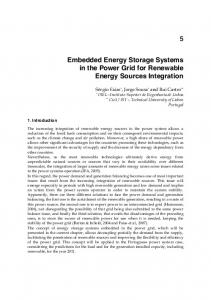 Embedded Energy Storage Systems in the Power Grid for Renewable ...