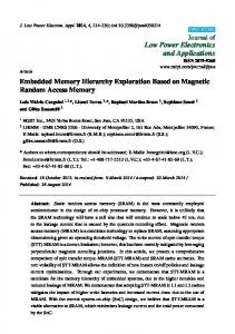 Embedded Memory Hierarchy Exploration Based on Magnetic - MDPI