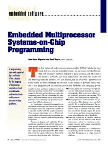 Embedded Multiprocessor Systems-on-Chip Programming embedded