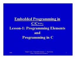 Embedded Programming in C/C++: Lesson-1: Programming ...