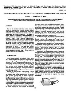 embedded solid-state cooling layer configurations in power electronics