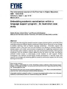 Embedding academic socialisation within a language support ...