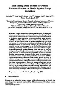 Embedding Deep Metric for Person Re-identification: A Study Against ...