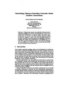 Embedding Distance-Bounding Protocols within ... - Semantic Scholar