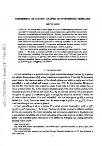 Embedding of metric graphs on hyperbolic surfaces