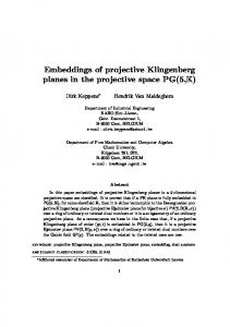 Embeddings of projective Klingenberg planes in the projective space ...