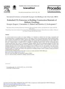 Embodied CO2 Emissions in Building ... - ScienceDirect.comhttps://www.researchgate.net/.../Embodied-CO2-Emissions-in-Building-Construction-Ma...