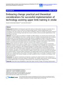Embracing change: practical and theoretical ... - BioMedSearch