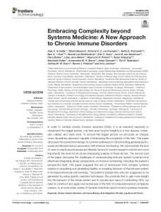 Embracing Complexity beyond Systems Medicine ... - Semantic Scholar