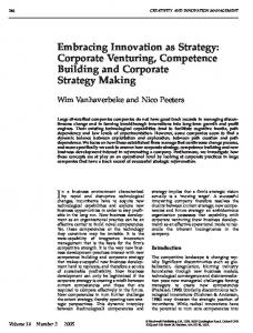 Embracing Innovation as Strategy: Corporate ... - Wiley Online Library