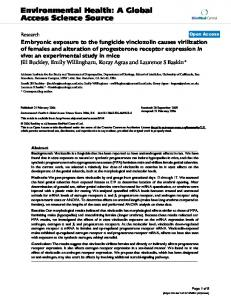Embryonic exposure to the fungicide vinclozolin causes virilization of ...