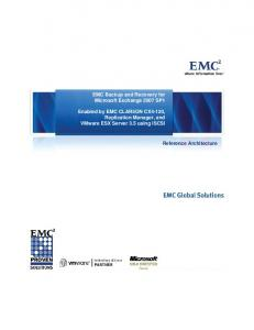EMC Backup and Recovery for Microsoft Exchange 2007 SP1 ...