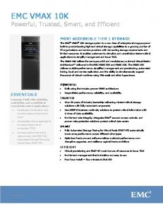 EMC Symmetrix VMAX 10K Data Sheet