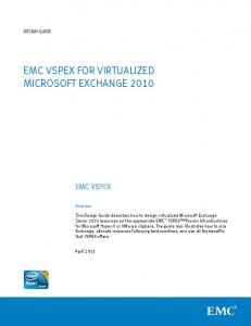 EMC VSPEX for Virtualized Microsoft Exchange Server Design Guide