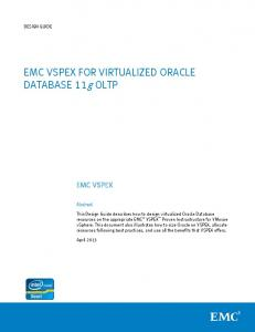 EMC VSPEX for Virutalized Oracle Database 11g OLTP