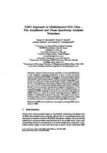 EMD Approach to Multichannel EEG Data - The ... - Semantic Scholar