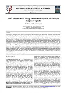 EMD based Hilbert energy spectrum analysis of adventitious lung
