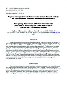 Emergency Assessment of Debris-Flow Hazards from Basins Burned ...