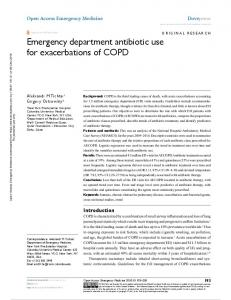 Emergency department antibiotic use for