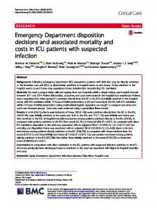 Emergency Department disposition decisions and ... - Critical Care