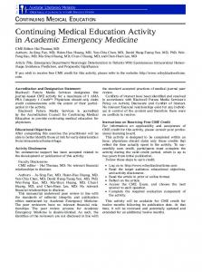 Emergency Department Neurologic Deterioration in Patients With ...