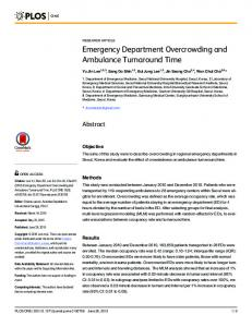 Emergency Department Overcrowding and