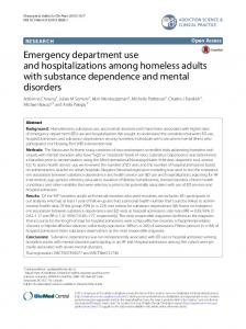 Emergency department use and hospitalizations among ... - CiteSeerX