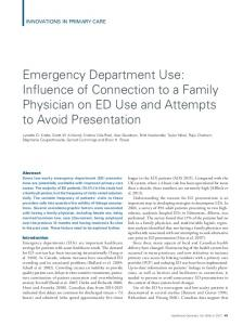 Emergency Department Use: Influence of Connection