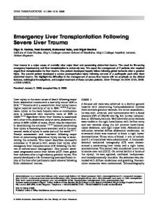 Emergency liver transplantation following ... - Wiley Online Library