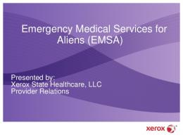Emergency Medical Services for Aliens (EMSA) - New Mexico ...