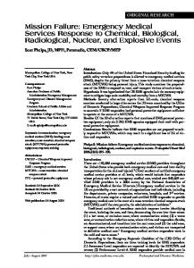 Emergency Medical Services Response to Chemical ... - CiteSeerX