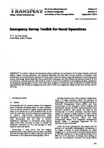 Emergency Survey Toolkit for Naval Operations