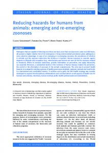 emerging and re-emerging zoonoses - Italian Journal of Public Health