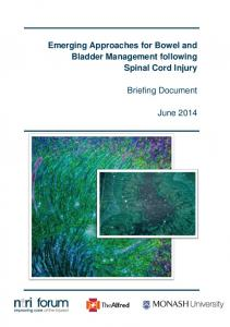 Emerging Approaches for Bowel and Bladder Management following ...