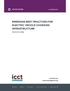 Emerging best practices for electric vehicle charging infrastructure