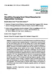 Emerging Novel Clinical Biomarkers for ... - Semantic Scholar