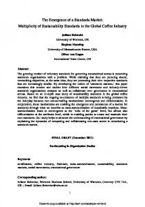 Emerging Standards Markets: Multiplicity of ... - SSRN papers
