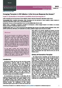 Emerging Therapies in HIV Infection: Is the Immune Response the ...