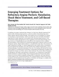Emerging Treatment Options for Refractory Angina ... - MedReviews