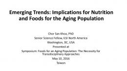 Emerging Trends: Implications for Nutrition and Foods for the Aging ...