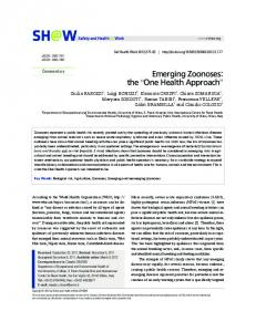 Emerging Zoonoses: the