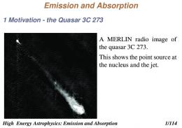 Emission and Absorption
